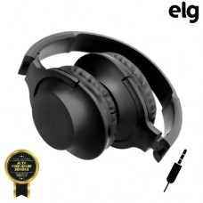 Headphone P2 Estéreo Dobrável Power Bass com Microfone Elg HPWBK - Preto