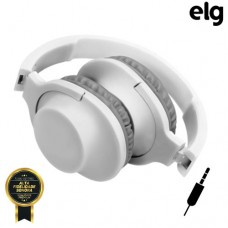 Headphone P2 Estéreo Dobrável Power Bass com Microfone Elg HPWWH - Branco