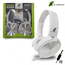 Headphone P2 Haste Ajustável Power Bass Drivers 40mm X-Cell XC-HS14 - Branco