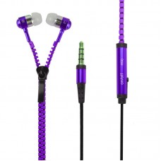 Earphone Ziper - Roxa