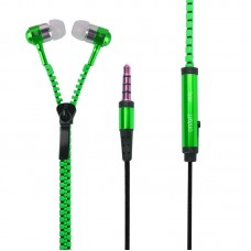 Earphone Ziper - Verde