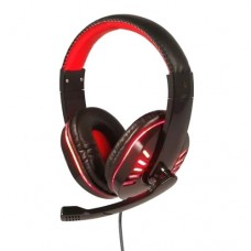 Headphone Gamer USB para PC, PS3 e PS4 com Micro LED Exbom HF-G310P4 - Vermelho