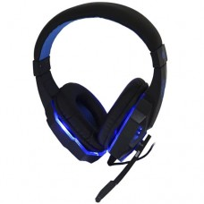 Headphone Gamer USB para PC, PS3 e PS4 com Micro LED Exbom HF-G390P4 - Azul