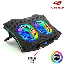 Base para Notebook Gamer Refrigerada Até 17,3 Polegadas LED RGB NBC-400BK C3 Tech