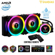 Water Cooler Gamer com Controle Remoto e LED RGB Intel/AMD 240mm Gamdias Chione M2-240R
