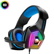 Headphone Gamer p/ PC, PS3, PS4, Celular Microfone Articulado Hyperx RGB Exbom GH-X2000 - Azul