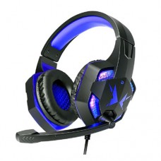 Headphone Gamer USB P2 x2 p/ PC, PS3, PS4 com Micro LED Exbom HF-G600 - Azul