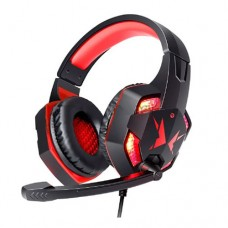 Headphone Gamer USB P2 x2 p/ PC, PS3, PS4 com Micro LED Exbom HF-G600 - Vermelho