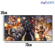 Mouse Pad Gamer Extra Grande 700x350x3mm MP-7035C19 Exbom - Fighting Girls