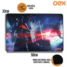 Mouse Pad Gamer Battle Tecnologia AntiSkid Speed Antiderrapante 500x330x3mm OEX MP301