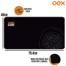 Mouse Pad Gamer Big Shot Superfície Speed Antiderrapante 794x400x3mm OEX MP303