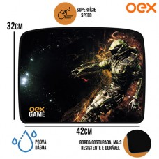 Mouse Pad Gamer Galaxy Superfície Speed Antiderrapante à Prova Dágua 420x320x3mm OEX MP304