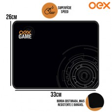 Mouse Pad Gamer Bullet Control Base Antiderrapante 330x260x3mm OEX MP306