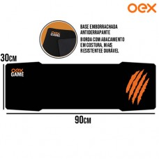 Mouse Pad Gamer Hawk Speed Base Antiderrapante 900x300x3mm OEX MP308