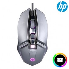 Mouse Gamer USB 5 Botões 2400Dpi LED RGB HP M270 Chumbo