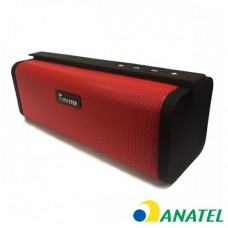 Caixa de som Bluetooth Elite KIMASTER - SO331 Vermelha