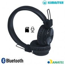 Headphone sem Fio Bluetooth/SD/P2 com Microfone Kimaster - K3X Preto