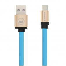 Cabo USB Type C Flat Duo Color Kimaster - CB317 Azul
