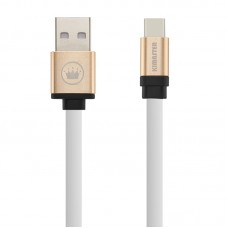 Cabo USB Type C Flat Duo Color Kimaster - CB317 Branco