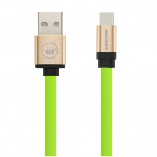 Cabo USB Type C Flat Duo Color Kimaster - CB317 Verde