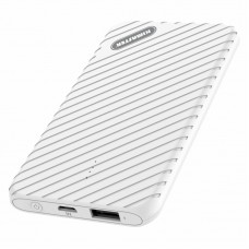 Power Bank Slim Kimaster - 5000mAh - E18 Branco