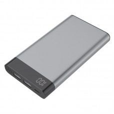 Power Bank Metal com Visor Digital Kimaster - 6000mAh - E37 Chumbo
