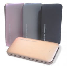 Power Bank Ultrafino 2 USB Kimaster - 8000mAh - PN168 Dourado