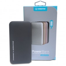 Power Bank Ultrafino 2 USB Kimaster - 8000mAh - PN168 Preto