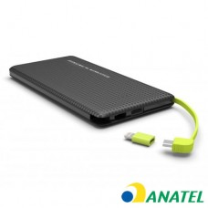 Power Bank Slim com Cabo Kimaster - 10000mAh - PN951 Preto