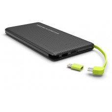 Power Bank Slim com Cabo Kimaster - 1000mAh - PN951 Preto