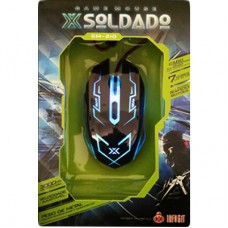 Mouse Gamer Cabo Nylon 6D Led 7 Cores GM-210 - Preto