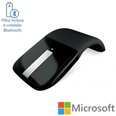 Mouse sem Fio Arc Touch Bluetooth Preto Microsoft RVF00052
