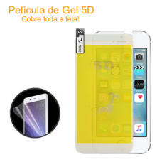 Película de Gel 5D para iPhone 6 Branca