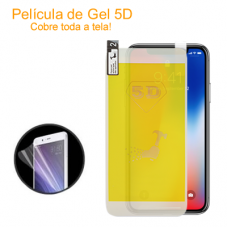 Película de Gel 5D para iPhone XR Branca